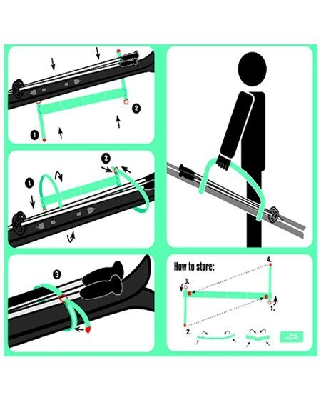 how to carry skis