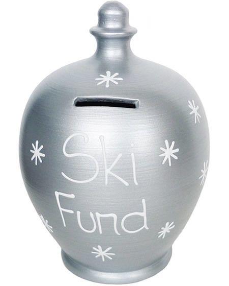 skiing savings pot - money jar